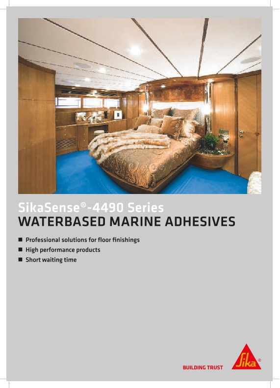 SikaSense®-4490 Series - Waterbased Marine adhesives